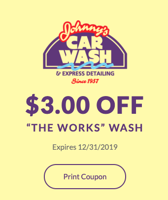 """$3.00 OFF """"The Works"""" Wash"""